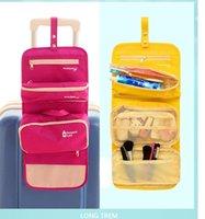 Wholesale Women Toiletry Makeup Kit Storage Check Waterproof Cosmetic Bag Picnic Wash handbag Korea Multifunctional bag