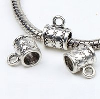 Metals bead loop - Hot New X10mm Tibetan Silver Flower Bail Metals Loose Beads With Loops For European Charm Bracelet