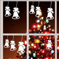 bell decals - 6pcs bell Decals for the Holidays Christmas Winter Decorations For Windows Door Wall Christmas Decor Stickers party decoration