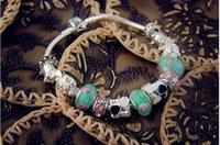achat en gros de amour bracelet en gros vis-Vente en gros Bleu-Love bracelet Bracelet plaqué argent avec des bijoux en cristal Bricolage faire des perles 2015 Bijoux Nouveau pour les femmes