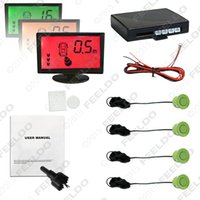 background alarm - Backup car strength background color alarm LCD reversing aid parking sensor system image is clear simple installation