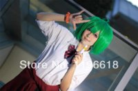 apples synthetic wig - Cosplay Costume Wigs Macross F Green Apple Shape Ranka Lee Halloween Party Full Hair with Free Cap CY559