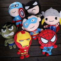 Wholesale Marvel Avengers plush toys Iron Man Captain America Hulk Thor SpiderMan BatMan SuperMan Film soft doll gifts