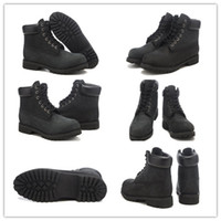 Wholesale Authentic Men s Boots Inch Premium Work Waterproof Boot Black Nubuck Size