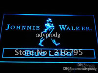 bar labels - a147 b Johnnie Walker Blue Label Bar NR Neon Light Sign
