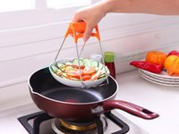 Wholesale One Handed Kitchen Stainless Steel Folding Anti Scald Hot Dish Plate Bowl Pot Clip Clamp Tong