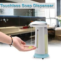 Wholesale DHL Free ML Handfree Automatic Stainless Steel IR Sensor Touchless Liquid Soap Dispenser for Kitchen Bathroom NEW
