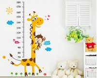 best glass wall decoration - Best sales Giraffe Height stickers wall stickers shop window stickers decorative glass door stickers decorations props removable