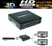 Wholesale 3D HDMI SPlitter X2 split one HDMI input to HDMI output with power adapter
