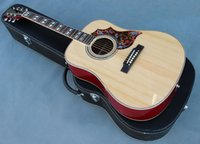 Wholesale Custom guitar shop OEM humminbird acoustic guitar solid spruce top sapele back and side made in China