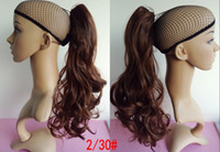 Wholesale Drawstring Claw Jaw Ponytail hairpieces fashion pony tail hairstyle Plastic claw curly wavy synthetic hair ponytail quot g
