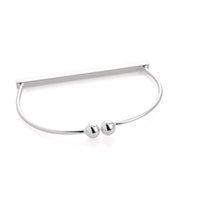 Cheap TOP- 10pcs lot 2015 Autumn Jewelry for Women Bangles Gold and Silver Simple Horizontal Bar Stick Thin Wire Bangle Bracelet G34