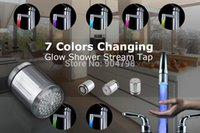 Wholesale 1pcs Color RGB Colorful LED Light Water Shower Spraying Head Faucet Bathroom YKS