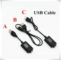 Wholesale 100pcs Universal USB VAPE Vaporizer Battery Charger Cable for Threaded Battery Ego EVOD X6 Batteries