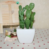 Wholesale Special full shipping Mini emulation cactus succulents potted fake flowers placed floral suit