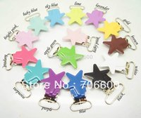 Wholesale Hot sell star shape suspender clip in colorful Mixed colors high quality Suspender Clips Suppliers Manufacturers