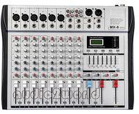 Wholesale MX8 Professional Audio Powered Mixer Channels Double Graphic EQ Mezcladora De DJ