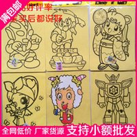 colored sand - Large sand painting colored sand baihuo toys min order USD