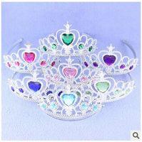 Wholesale 2015 Hot Girl Frozen Crown Frozen Rhinestone Tiaras Princess Tiara Party Hair Accessories Frozen Tiaras Snow Queen Crowns CCA1833