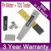 Wholesale Digital PH Meter TDS Tester Monitor for Aquarium Fishing Industry Swimming Pools Laboratory Food Beverage PPM order lt no tr