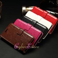 For LG TPU Black For LG Flex 2 H959 Joy H220 Spirit H420 Crazy Horse Vintage Retro Wallet Leather case with Card Slot Photo Frame Money Pocket