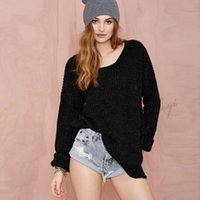 backless sweaters - 2016 new winter The European and American fashion cross weaving backless vents of female sweaters