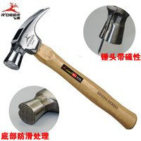 Wholesale Flying deer high grade hickory handle claw hammer with magnetic hammer end skid