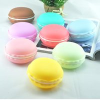 Wholesale Korean version of the Creative Colorful macarons headset multi use storage box debris jewelry necklace purse carry kit