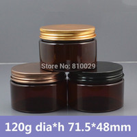 Wholesale g Amber PET Container w Aluminum Cap Heavy Wall Plastic Bottle for Cosmetic