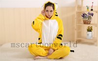 Wholesale 2015 black striped yellow puppy Animal suits Cosplay Costume Adult Garment Coral Fleece Stitch Cartoon Animal Sleep