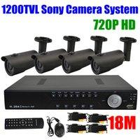 Cheap 1200TVL Video surveillance camera 720P HD 4CH DVR 4channel 960H HDMI Sony Nightvision IR Outdoor CCTV Camera Security System Kit