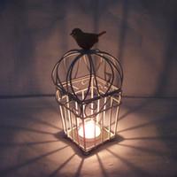 Wholesale SD031 Continental Iron Candlestick creative vintage birdcage wedding lantern ornaments fine arts and crafts