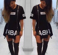 Casual Dresses Others Others Wholesale-2015 New T Shirt Dress Cotton Black Print Sexy bodycon bandage Party Club Dress Casual Outfit Plus Size
