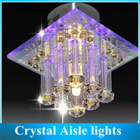 Wholesale LED Crystal Aisle Lights Porch Corridor Hallway Light Balcony Ceiling Simple Crystal Lamp Living Room Lighting