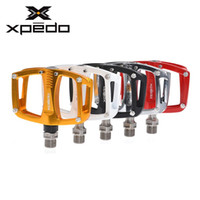 pocket bike parts - 2015 New XPEDO C260 Pedal Bearing Pocket Bike Seald Aluminum Extruted Flat Road Bicycle Cycling Pedals quot Bike Parts Colors