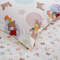 bear quilt twin - kids christmas cotton lovely Little Bear cartoon christmas bedding sets Twin Full size girl bedroom sets child quilt co