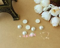 Wholesale 10mm Diy Accessories Whalf Round Pearl Nail Art Rhinestone Pasted Phone Case diy material