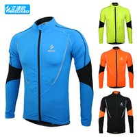 warm up jackets - 2015 Arsuxeo winter warm up Fleeces running Fitness Excercise cycling bike bicycle sports Clothing jacket wear