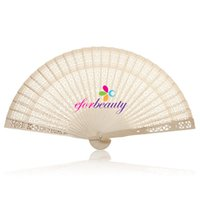 al por mayor abanicos de época-Nupcial del partido del verano de bambú plegable de la vendimia de madera tallada a mano la boda del ventilador Buena Calidad caliente venta de nuevos 10pcs