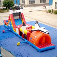 Wholesale AOQI Inflatable obstacle course splendid inflatable Missile Base Obstacle for children made in professional manufacturer AOQI