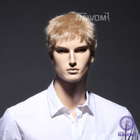 Wholesale Factory Direct Sale Best Selling Fashion Handsome Men Wigs Cosplay Wig Short Synthetic Hair Gold Color Wigs