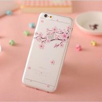apple tree drawing - Hot iphone s Beautiful Sakura Flower Colorful Trees Pattern Drawing Clear TPU Mobile Case Cover For iPhone S S Plus Plus Christmas