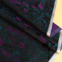 Wholesale Brocade fabric costume Han Chinese clothing cheongsam kimono fabric damask cloth fabric black Rose Peony