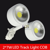 Wholesale LED track light x2W W white energy saving rail light decorate lamp store light high quality high lumens lamp years warranty