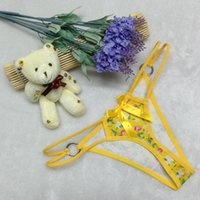 Wholesale Ladies Bow Lingerie - Women Lady Sexy Floral V-string Briefs Panties Thongs G-string Lingerie Underwear Free Shipping