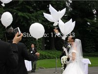 Wholesale 200pcs Wedding biodegradable white Dove Balloons for wedding decoration degradable dove balloon DHL Fedex Free