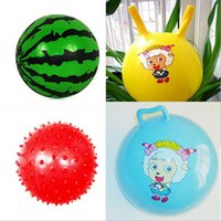 large inflatables - Baby Large Bouncy Ball gym massage ball small rubber ball bumpmaps inflatable toy balls touch infant sports quot