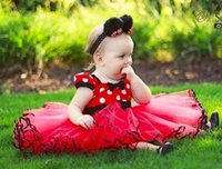 Cheap Fashion Princess Dress Bowknot Sash Baby Girls Dresses Cut Ball gown Dresses Jumper Skirt Children Clothing Pleated Dress Kids Party Dresses