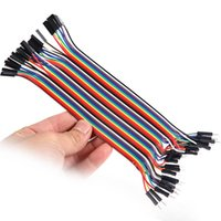 Wholesale 40p in Row Dupont Cable cm mm pin p p Female to Male jumper wire for Arduino L0192403