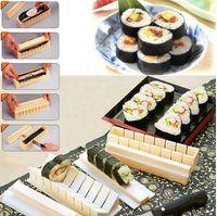 Wholesale 2015 Kitchen Accessories Maquina De Costura Diy Sushi Master Maker Rice Mold Kitchen Making Machine Tool Set
